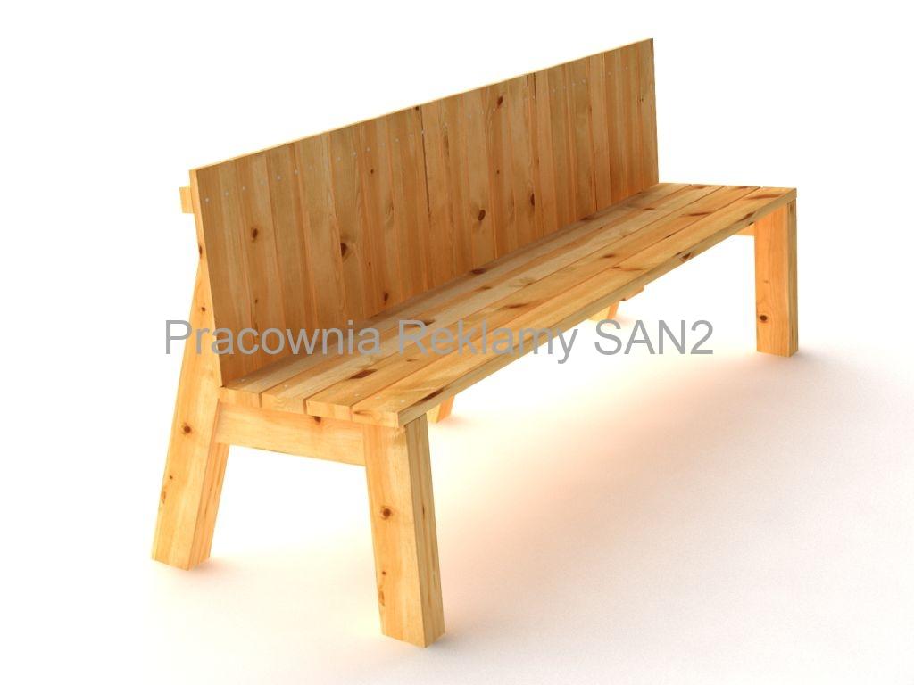 Bardzo dobra Ławki drewniane   Pracownia Reklamy SAN2 YA36